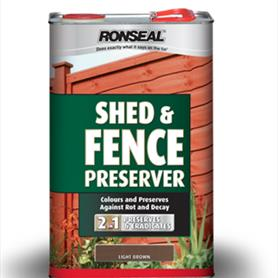 Ronseal shed and fence